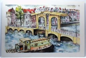 Amsterdam Meagre Bridge - drawing