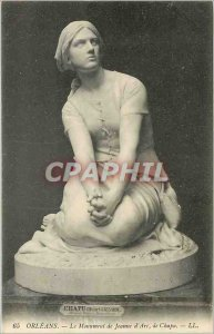 Old Postcard The Orleans Joan of Arc Monument Chapu