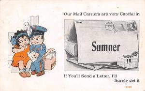 Sumner IL Flapper Do~Mail Carriers Careful, If You Send, I'll Surely Get It 1915