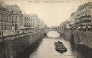 CPA Rennes - Les Quais, pris du Pont Berlin (112053)
