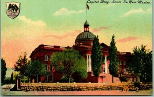 Santa Fe, New Mexico Postcard Capitol Building Front View c1910s UNUSED