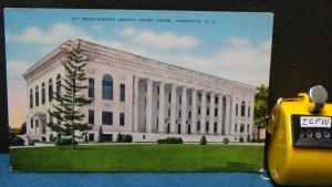 STD Vintage Mecklenburg County Court House Charlotte North Carolina Unposted