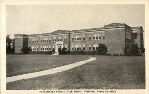 Hertford NC Perquimans County High School Postcard