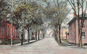 INDIANA, PA Pennsylvania  CHURCH & SIXTH STREET SCENE~Homes   c1910's Postcard