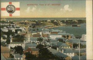 Bermuda Flag Emblem Series St. Geroge R.O. Clifford 1910 Postcard