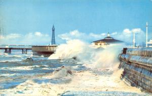 Blackpool Postcard, Rough Seas R83