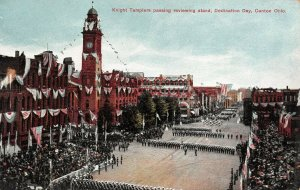 LP59  Canton  Ohio Postcard   Knight Templers Fraternal Dedication Day