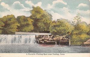 Dunlap Iowa~Favorite Fishing Spot~Below the Dam~Driftwood~SW Wilkinson~1908 PC