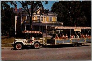 1960s Baraboo, Wisconsin Postcard CIRCUS WORLD MUSEUM Ringling House / Tram