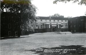 Princeton IL~Julia Rackley Perry Hospital & Grounds~Real Photo Postcard 1940s
