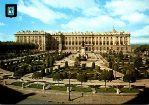 Spain Madrid Orient Square and Royal Palace