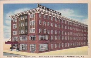 Hotel Franklin Virginia Avenue Atlantic City New Jersey Curteich