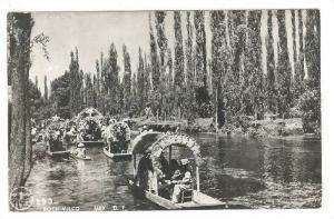 "RP, Colorful Gondola Like Boats Called ""Trajineras"", Xochimilco, Mexico, ..."