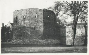 The Multangular tower and roman wall York postcard