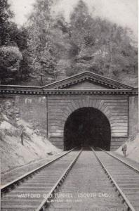 South End of Watford Railway Old Train Tunnel Colway Bay Advertising Postcard