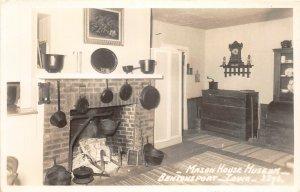 G33/ Bentonsport Iowa RPPC Postcard c1950s Interior Mason House Museum