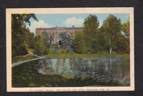 PQ Parc Howard High School Sherbrooke Quebec Canada QC Postcard Carte Postale