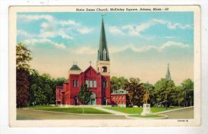 Massachusetts  Adams Notre Dame Church, McKinley Square