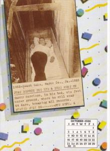 Amazing Feats Calendar Card October Harry Morrison Buried Alive For 44 Days
