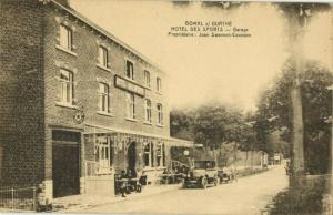 belgium, BOMAL, Bomal-sur-Ourthe, Hotel des Sports, Car (1920s) Postcard