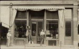 Storefront - North Amherst OH Cancel Sept 13 1909 Real Photo Postcard