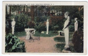Saratoga Springs, N.Y., The Sun Dial And Statues, City Park