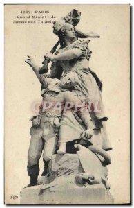 Old Postcard Paris When Meme Mercia Tuileries