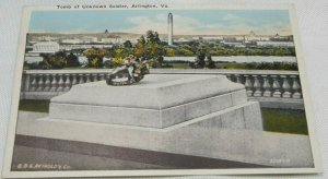 Tomb of Unknown Soldier, Arlington, Virginia Vintage Postcard 1915-1930 Colored