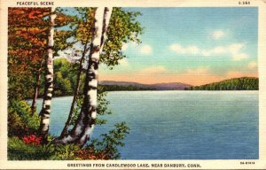 Connecticut Greetings From Candlewood Lake Near Danbury 1946 Curteich