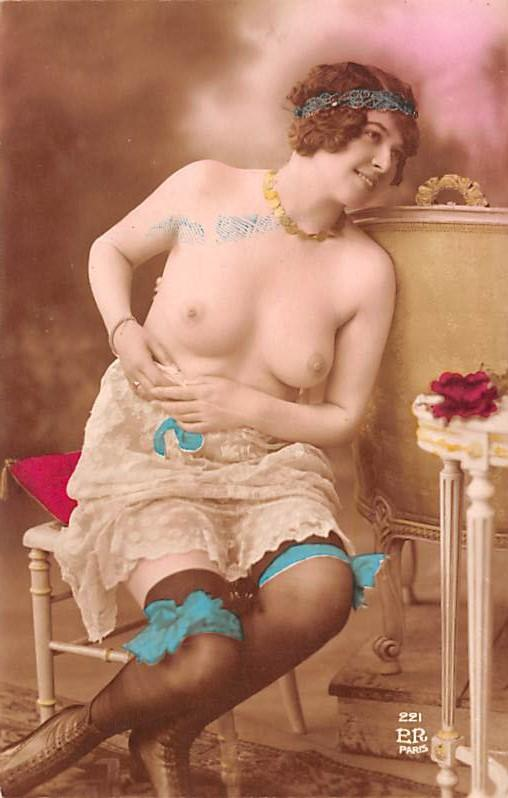 French Tinted Nude Old Vintage Antique Post Card French Tinted Nude Postcard ...
