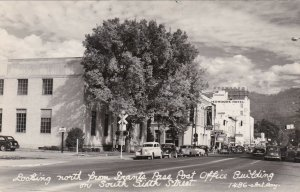 Oregon Grant's Pass South Sixth Street Looking North From Post Office RPPC sk130