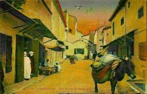 Algeria Constantine Une rue de la Vieille Ville Postcard