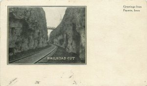 Fayette Iowa~Cut Along Chicago, Milwaukee, St. Paul & Pacific Railroad? c1906