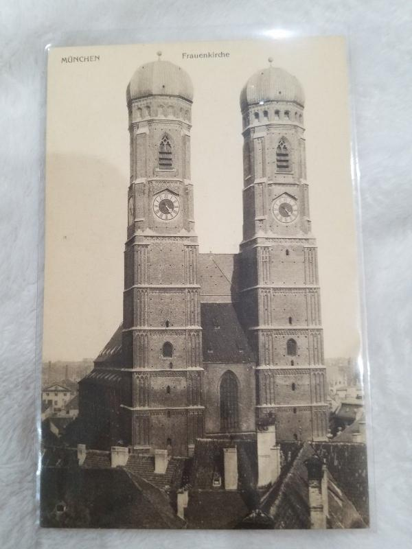 Antique Postcard, Munchen, Frauenkirche