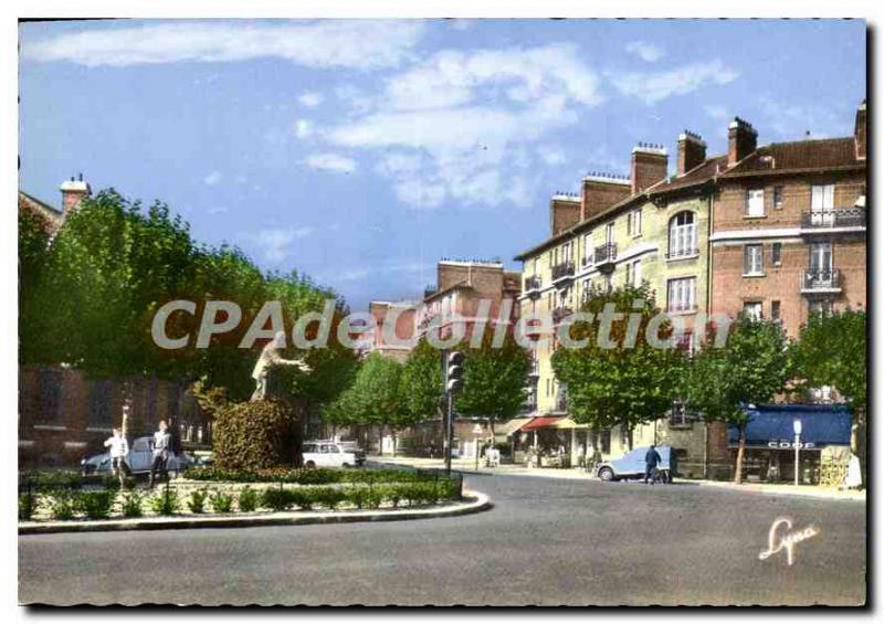 Modern Postcard Suresnes Square and Statue Jean Jaures