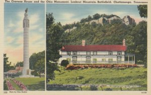 CHATTANOOGA, Tennessee, 1930-40s; Cravens House & Ohio Monument, Battlefield