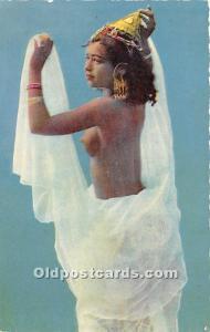 Arab Nude Postcard Danseuse au Voille Writing on back