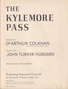 The Kylemore Pass John Turner Huggard Irish Olde Folk Sheet Music