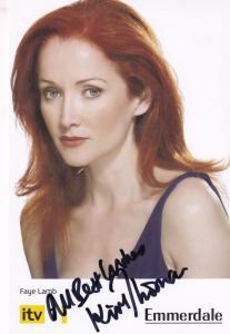 Kim Thompson Emmerdale Faye Lamb Hand Signed Cast Card Photo