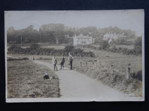 Staffordshire ENDON Country Lane View c1920 RP Postcard