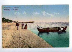 162129 Latvia RIGA Edinburgh seaside Vintage postcard