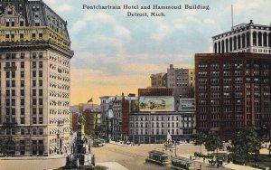 Pontchartrain Hotel and Hammond Building , DETROIT , Michigan ; PU-1911