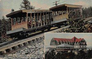Incline Railroad Climbing Up Mt. Beacon, Matteawan, N.Y., Postcard, Used in 1910