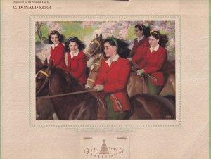 CALENDAR: CALLANDER, Ontario, Canada, 1950; The Dionne Quintuplets - SWEET S...