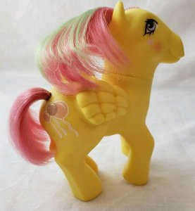 Magic Message Floater My Little Pony G1 W/ Pink & Green Mane & Balloons