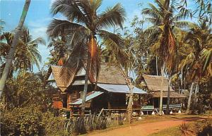 Malaysia Old Vintage Antique Post Card Malay Kampong Malacca Unused