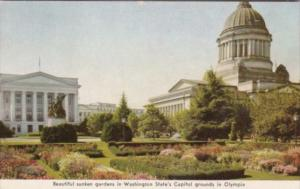 Washington Olympia Sunken Gardens At State Capitol Building