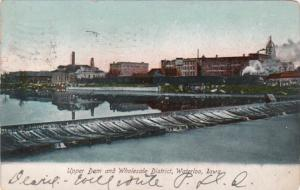 Iowa Waterloo Upper Dam and Wholesale District 1907