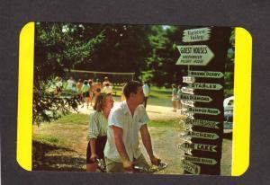 PA Tandem Bike Vacation Valley Resort Echo Lake Pennsylvania Postcard Bicycle