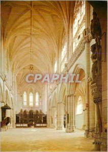 Modern Postcard Saint Riquier Somme The Abbey inner view